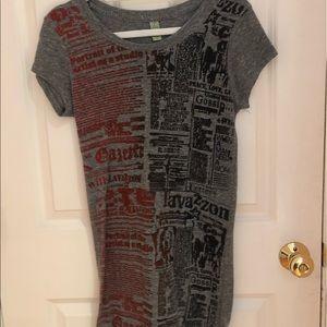 Newsprint T-Shirt Dress